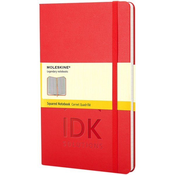 Classic PK hard cover notebook - squared - Scarlet red