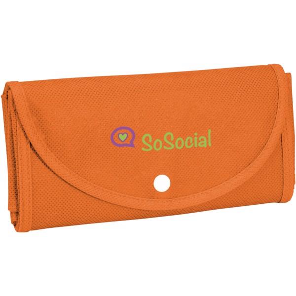 Maple buttoned foldable non-woven tote bag - Orange