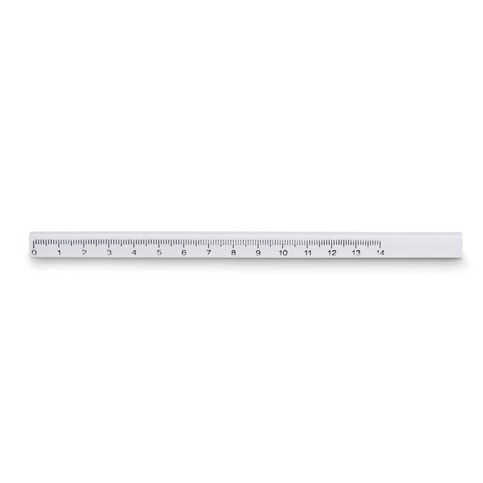 Asztalos ceruza vonalzóval Maderos - fehér-TESZT