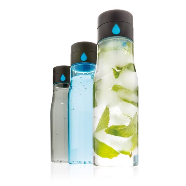 Tritanová láhev Aqua sledující pitný režim - Černá