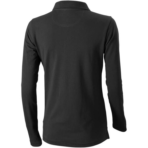 Oakville long sleeve women's polo - Anthracite / XL