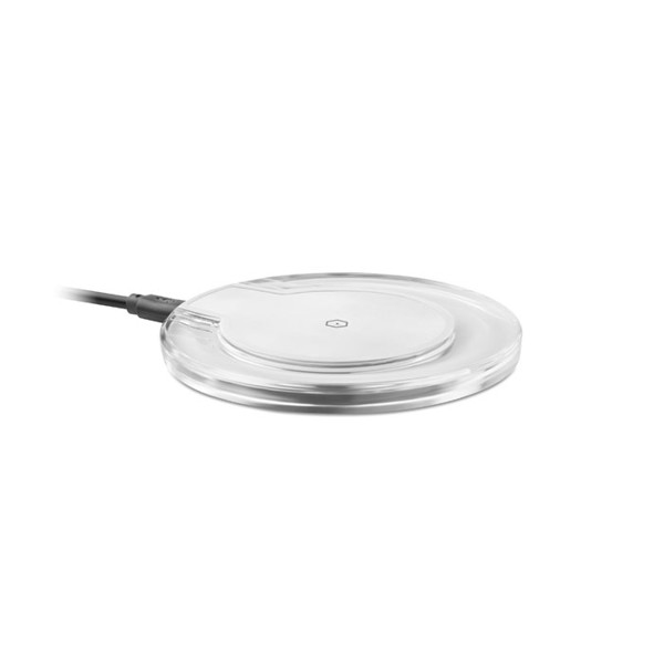 Round wireless charging pad Uve Charging - White