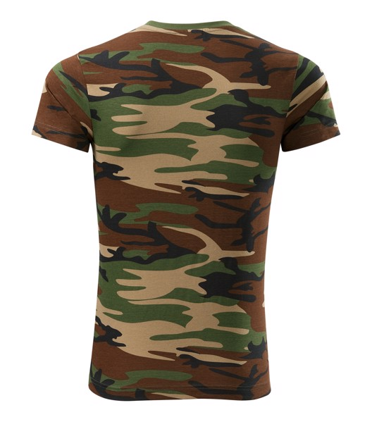 Tričko unisex Malfini Camouflage - Camouflage Brown / M