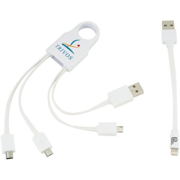 Squad 5-in-1 charging cable set - White