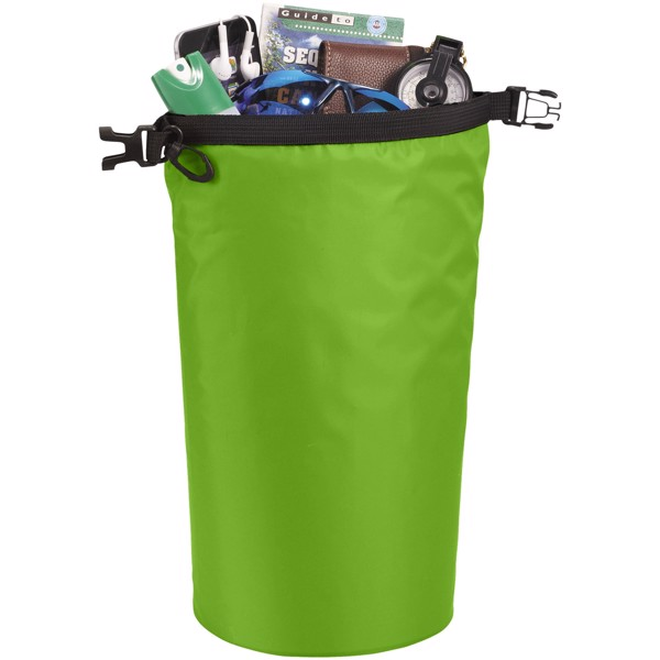 Survivor 5 litre waterproof roll-down bag - Lime