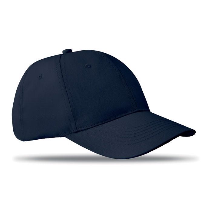 6 panels baseball cap Basie - Blue