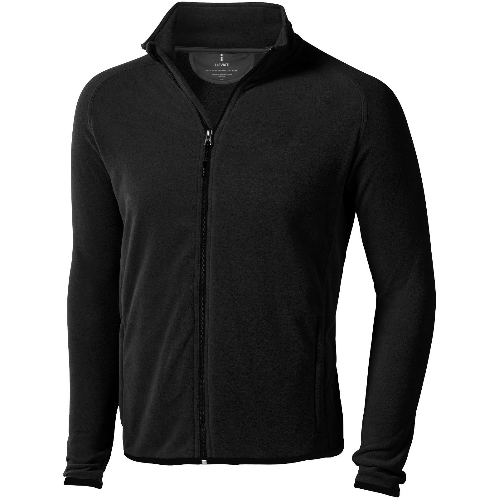 Brossard micro fleece full zip jacket - Solid Black / L