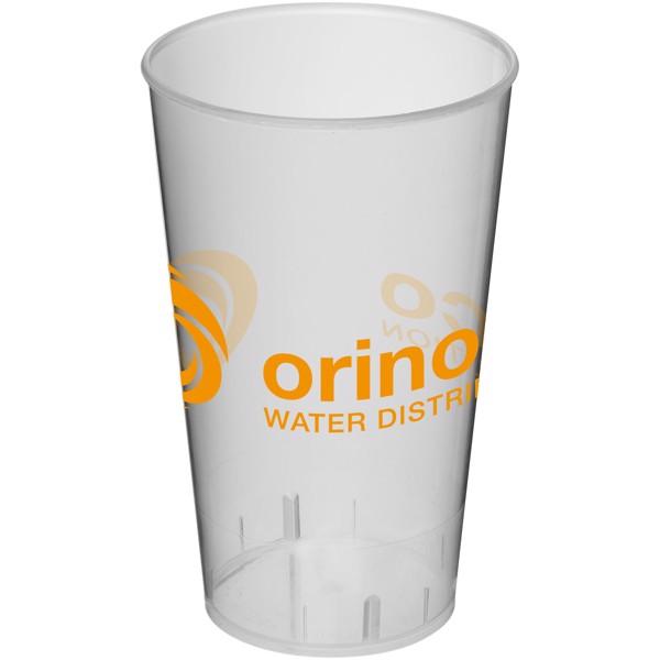 Arena 375 ml plastic tumbler - Transparent white
