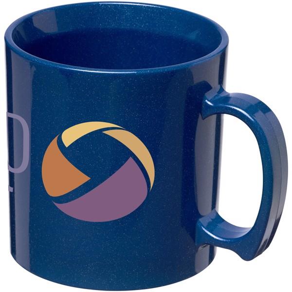 Standard 300 ml plastic mug - Mid blue