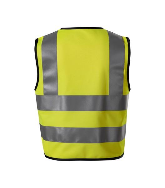 Bezpečnostní vesta dětská Rimeck HV Bright - Fluorescenční Žlutá / 4-6 let/104-128 cm