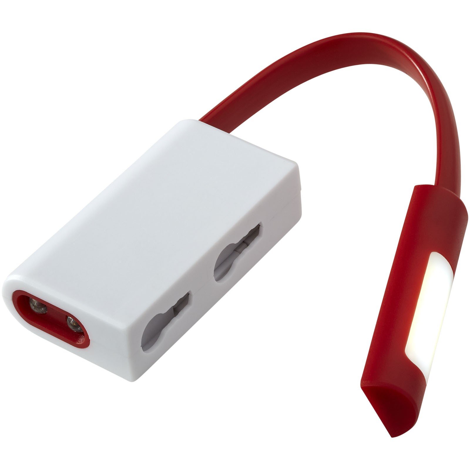 COB a LED svítilna Libra - Červená s efektem námrazy / Bílá