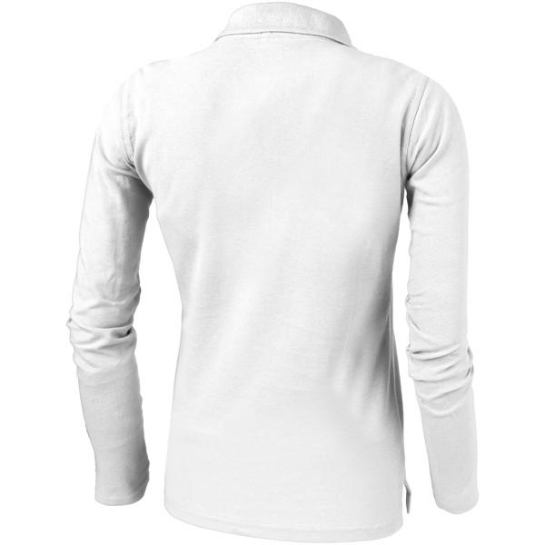 Point long sleeve women's polo - White / S