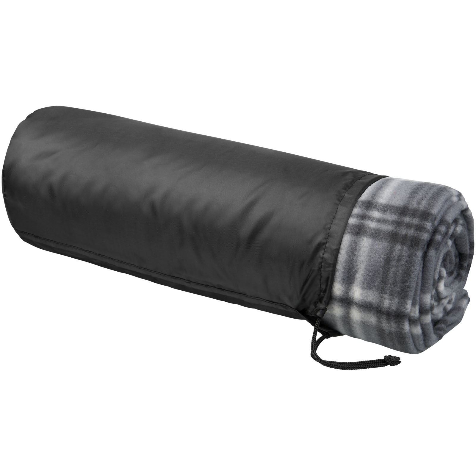 Scot checkered plaid blanket - Solid black