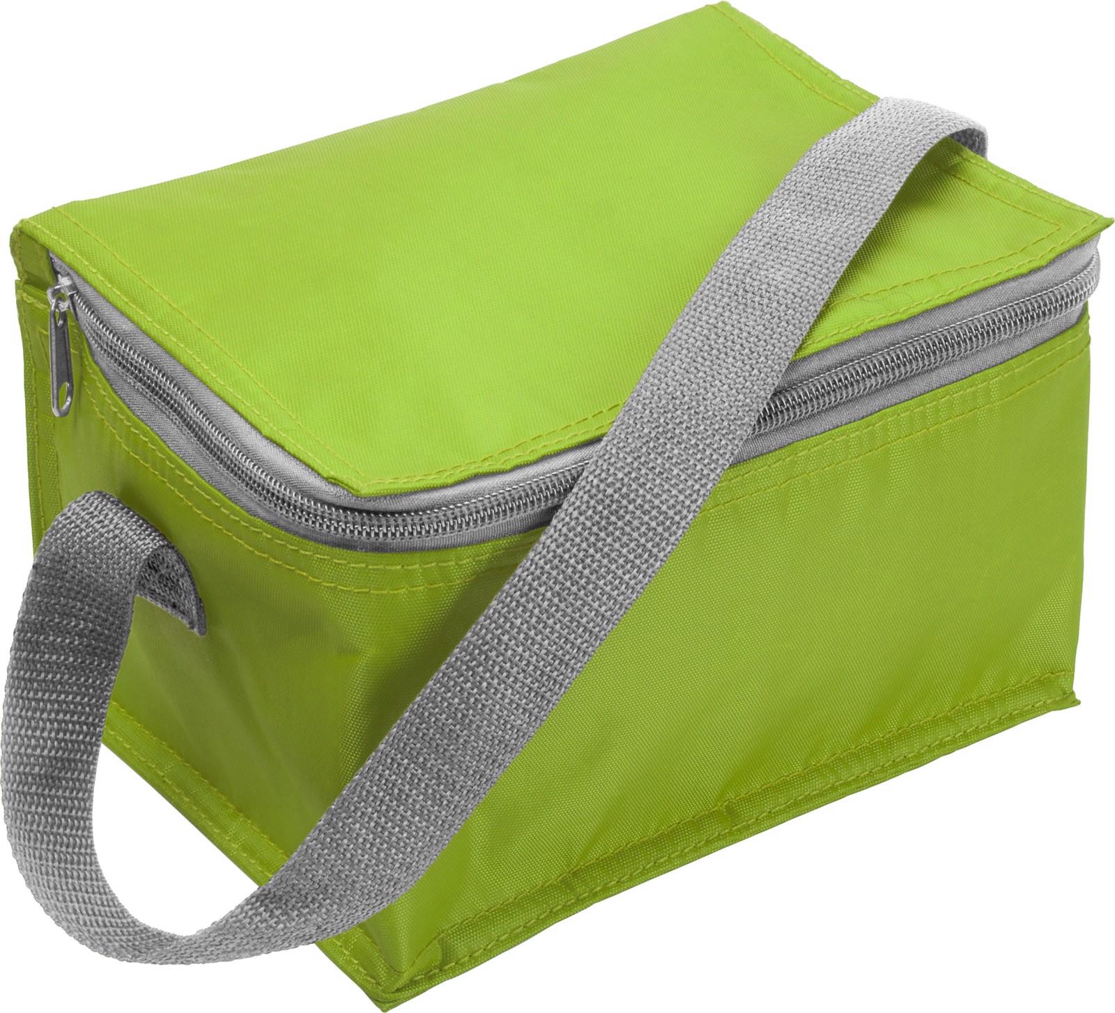 Polyester (420D) cooler bag - Light Green
