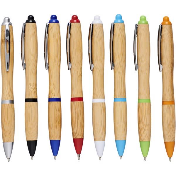 Bambusowy długopis Nash - Piasek Pustyni / Czerwony