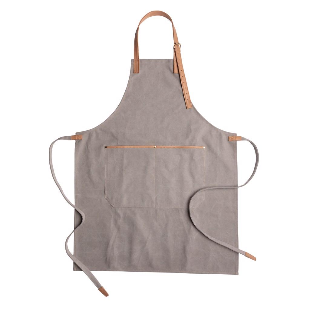 Deluxe canvas chef apron - Grey