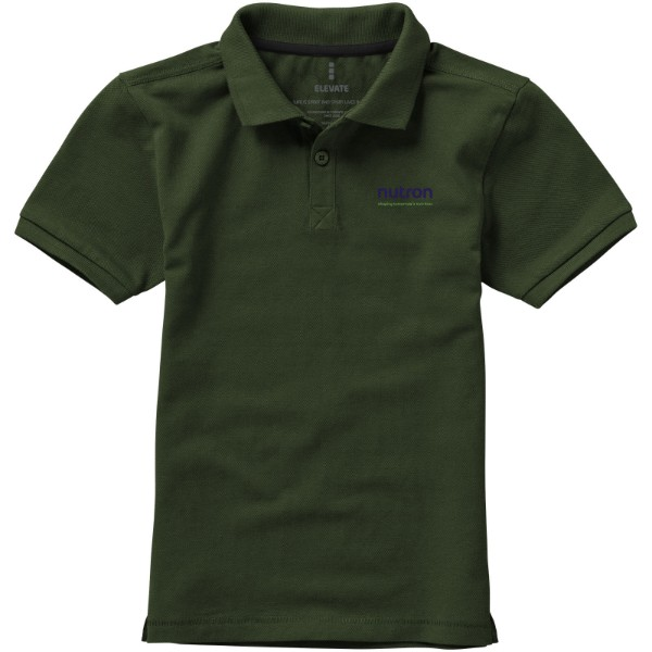 Calgary short sleeve kids polo - Army Green / 140