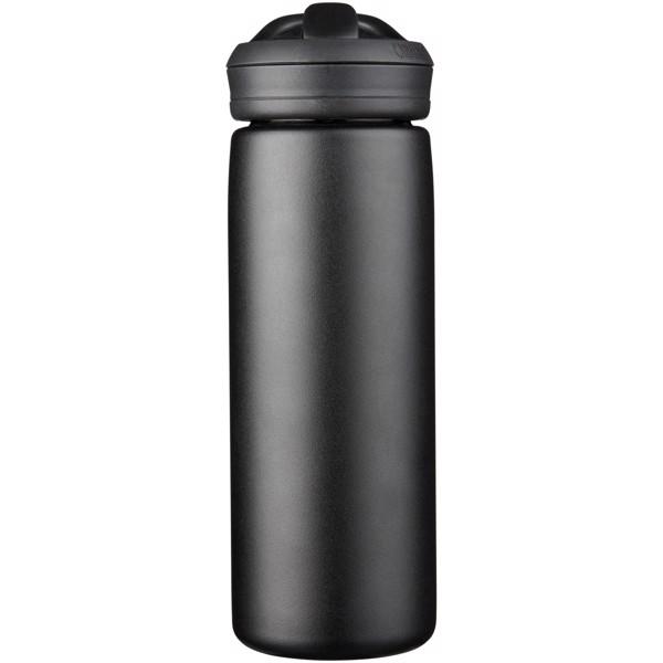 """Botella de 600 ml con aislamiento de cobre al vacío """"Eddy+"""" - Negro intenso"""