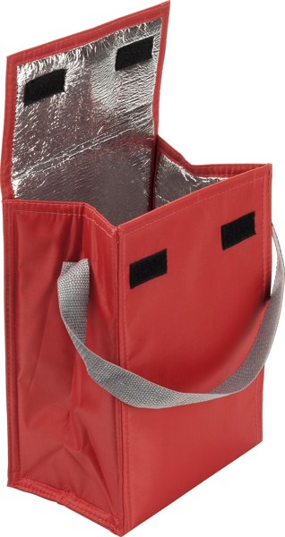 Polyester  (420D) cooler/lunch bag - Red