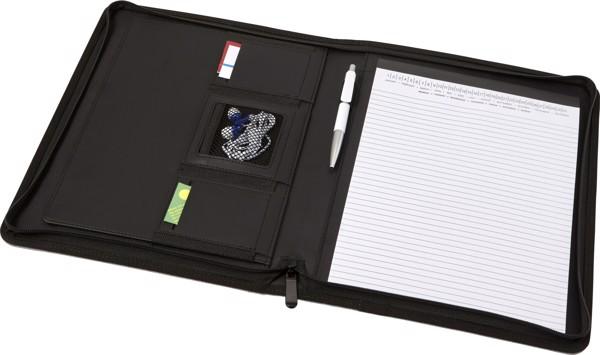 Polyester document folder - Black
