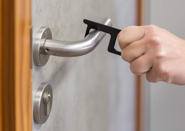Aluminium door opener - Silver