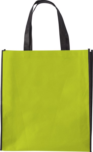 Nonwoven (80 gr/m²) shopping bag - Lime