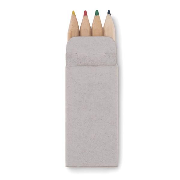 4 mini coloured pencils Petit Abigail