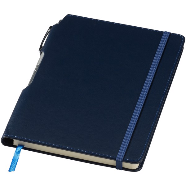 Panama A5 hard cover notebook with pen - Navy