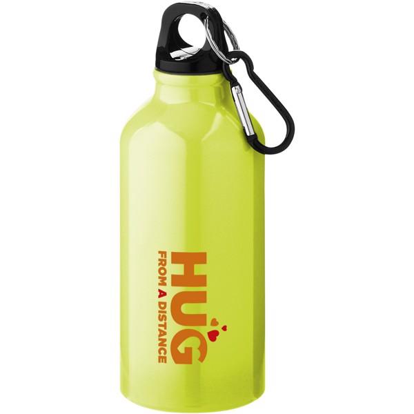 Oregon 400 ml sport bottle with carabiner - Neon Yellow