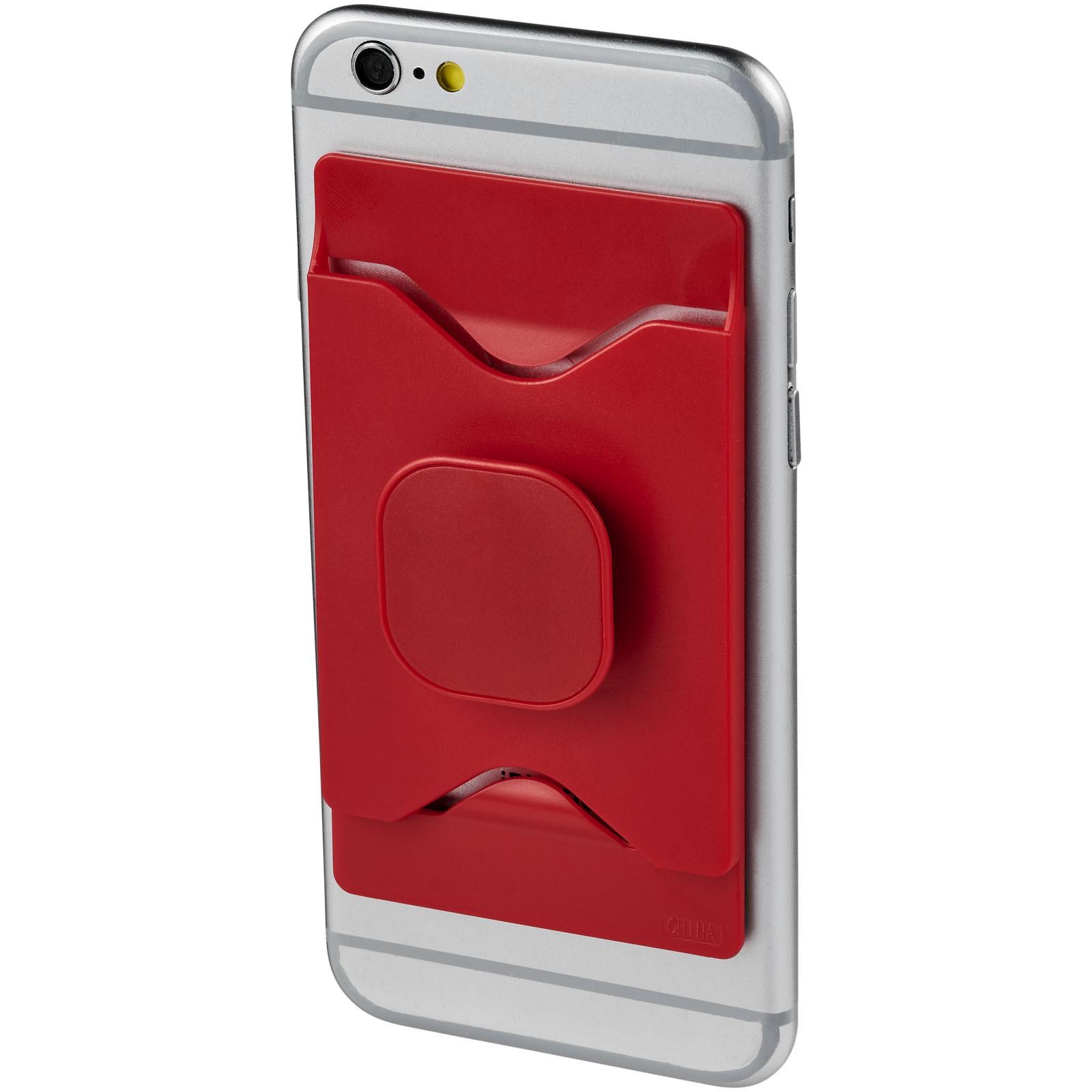 Purse držák mobilního telefonu s peněženkou - Červená s efektem námrazy