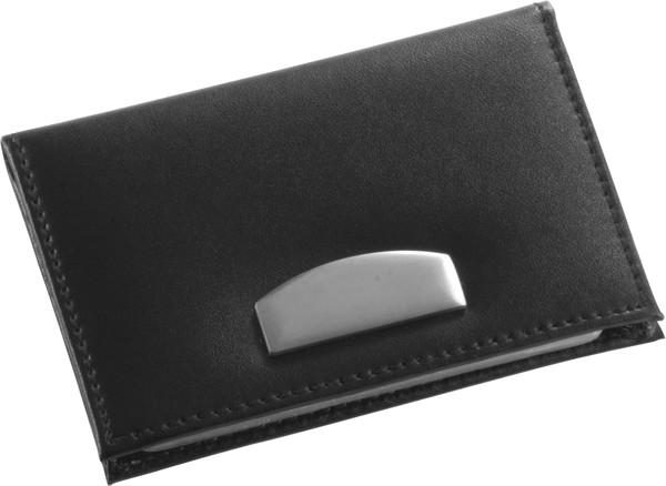Bonded leather credit card holder