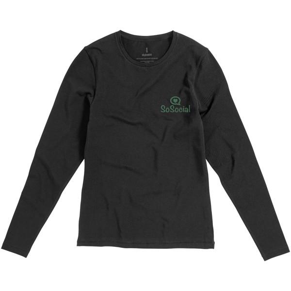 Dámské triko Ponoka s dlouhým rukávem, organická bavlna - Anthracitová / XL