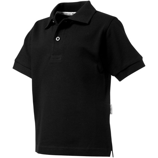 Forehand short sleeve kids polo - Solid black / 140