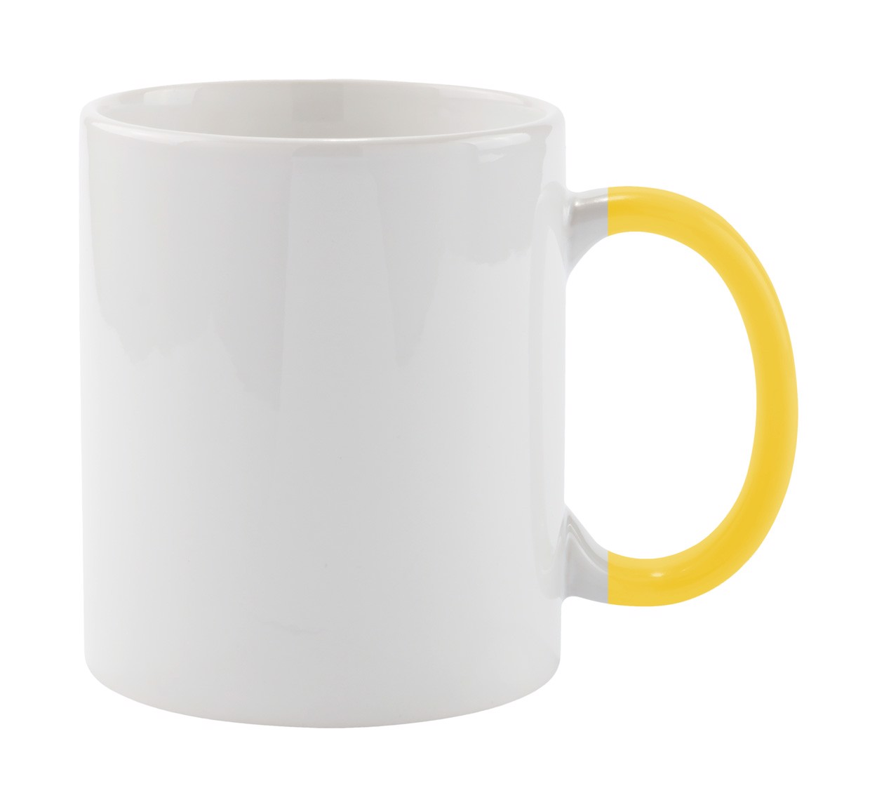 Hrnek Plesik - Bílá / Žlutá