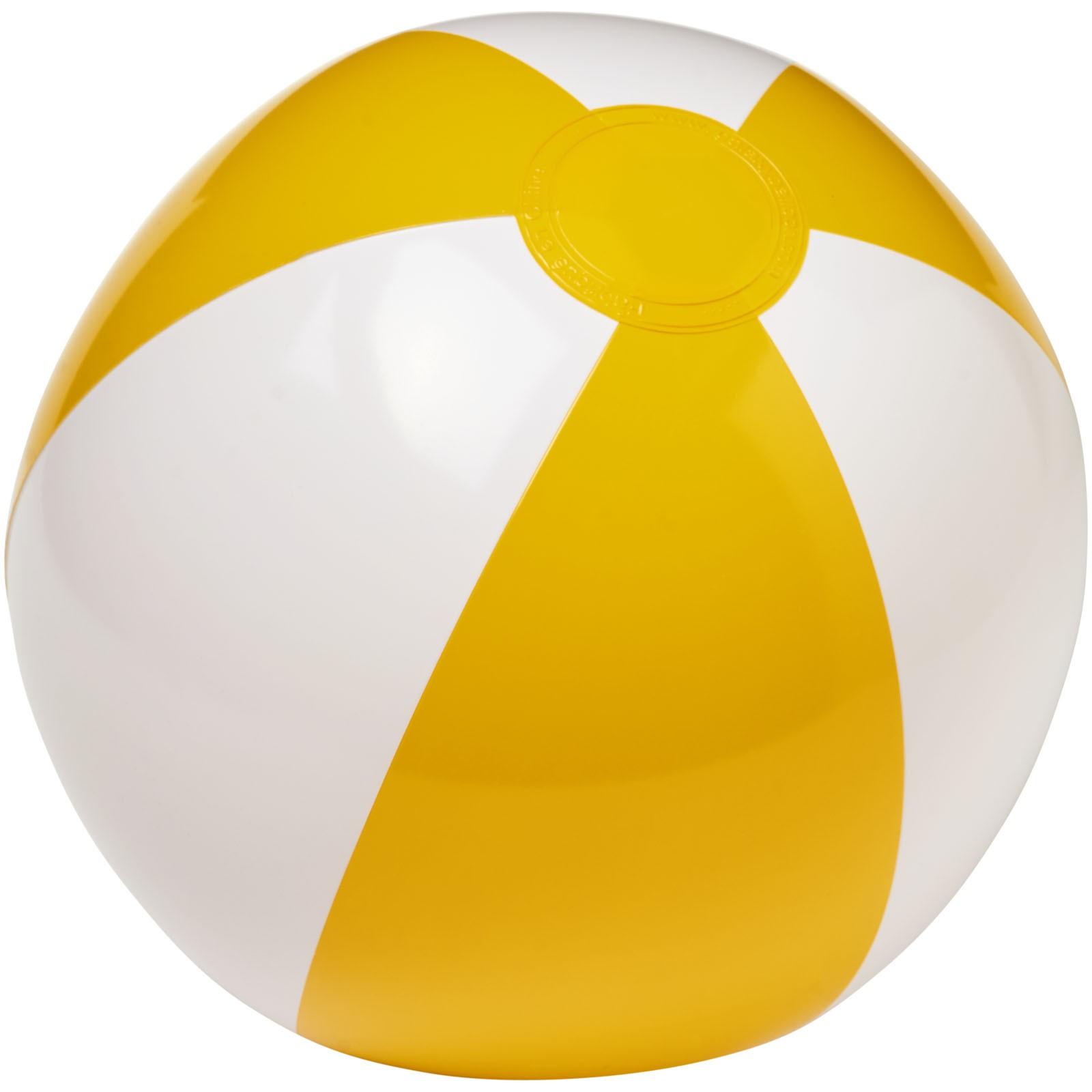 Pevný plážový míč Palma - Žlutá / Bílá