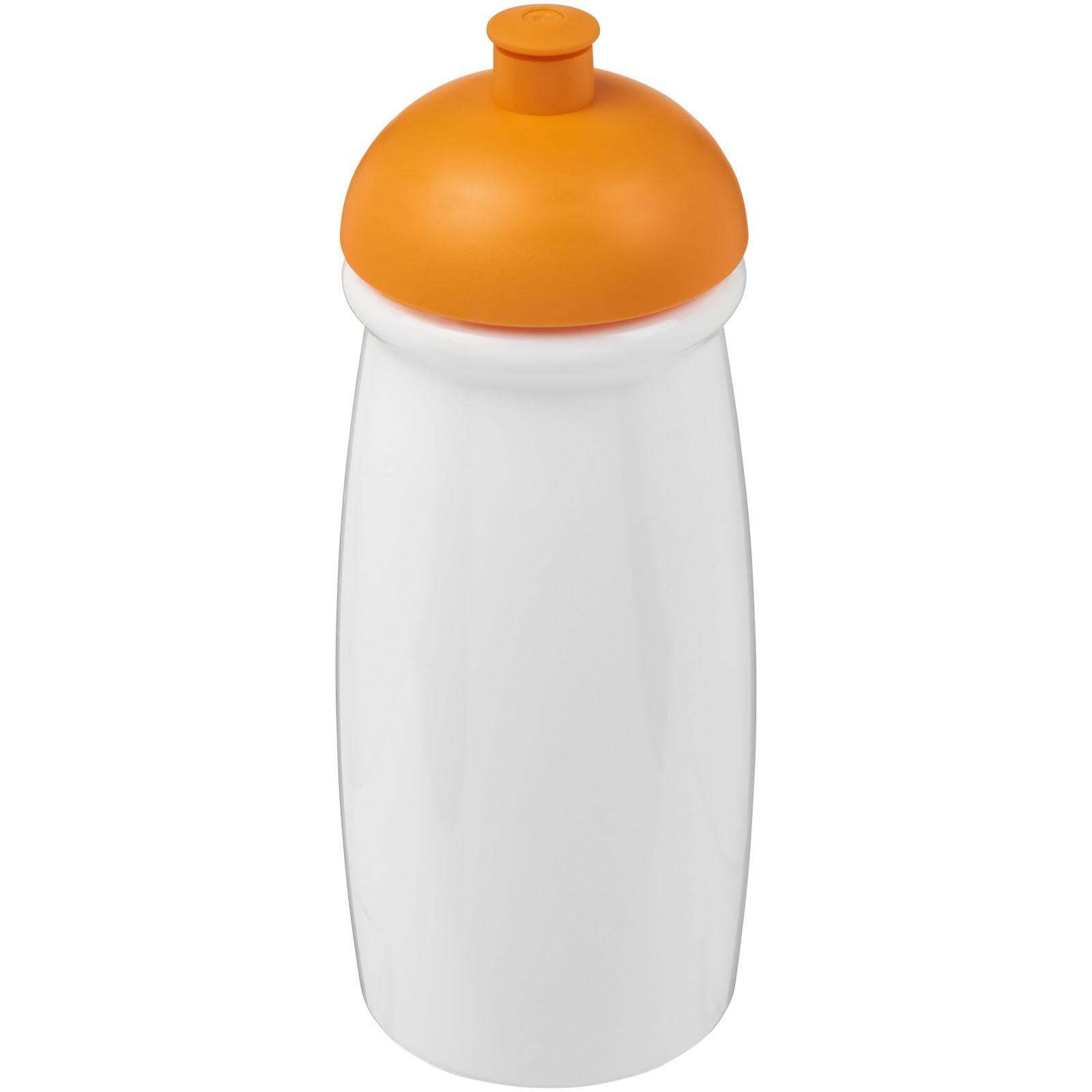 H2O Pulse® 600 ml dome lid sport bottle - White / Orange
