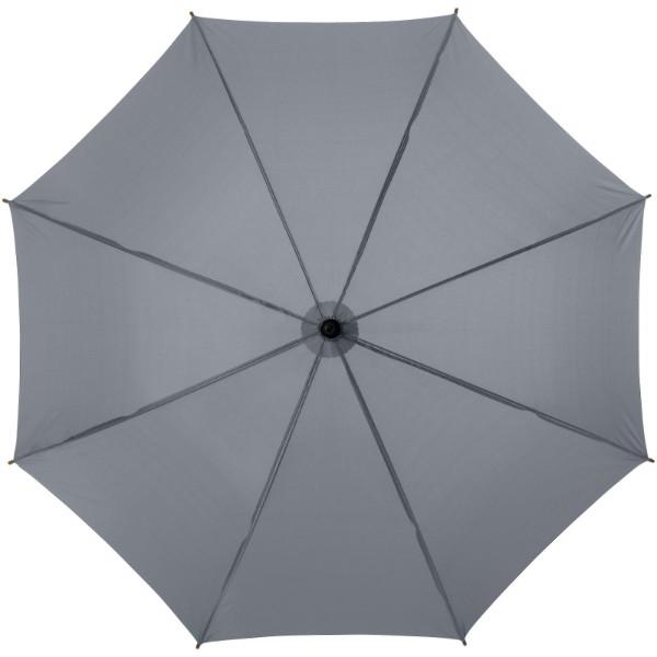 """23"""" klasický deštník Jova s dřevěnou tyčí a rukojetí - Šedá"""