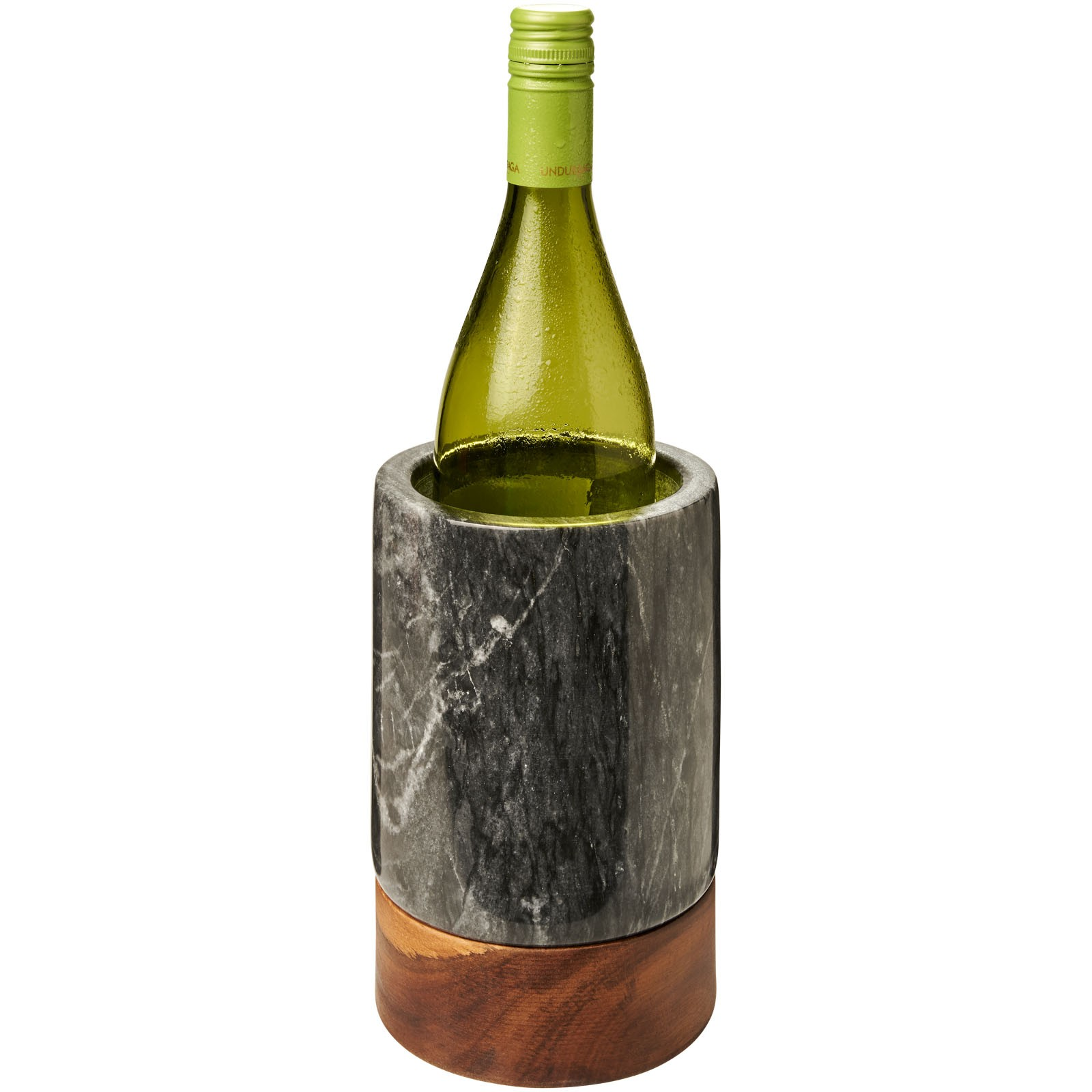 Harlow marble and wood wine cooler