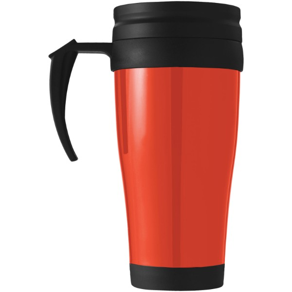Daytona 400 ml insulated mug - Red / Solid Black