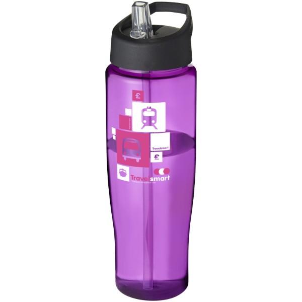 Sportovní láhev s víčkem s hubičkou H2O Tempo® 700 ml - Purpurová / Černá
