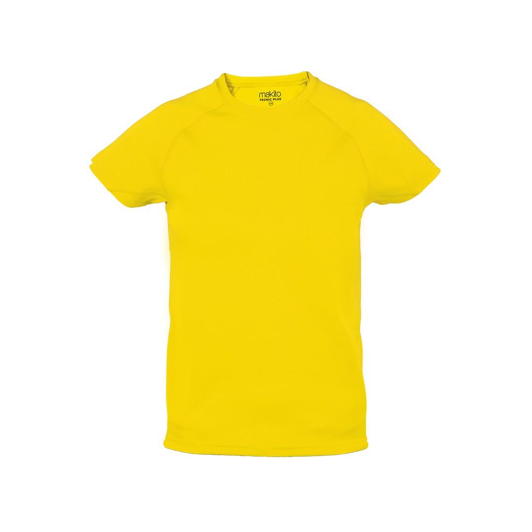 Camiseta Niño Tecnic Plus - Amarillo / 6-8
