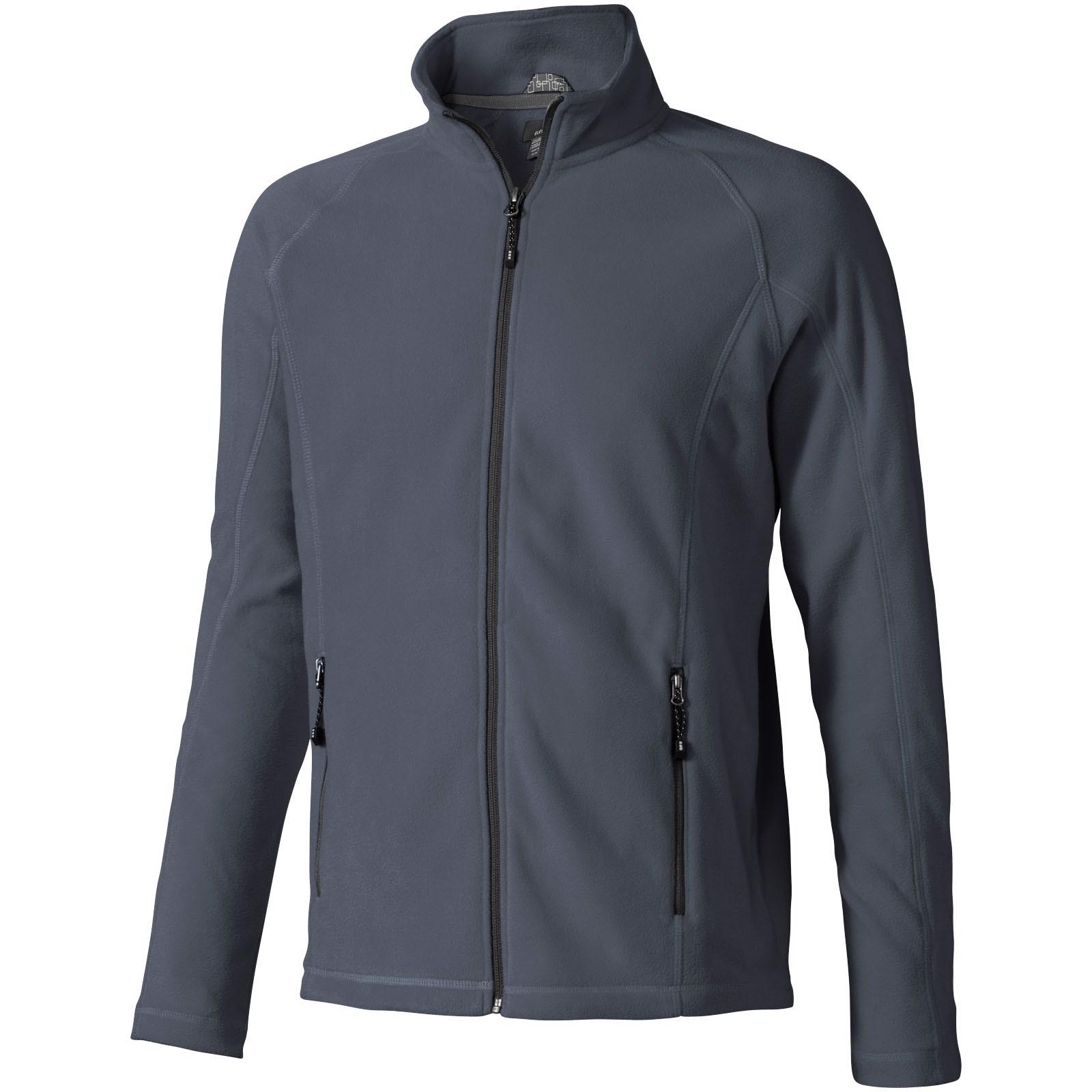 Rixford men's full zip fleece jacket - Storm grey / M