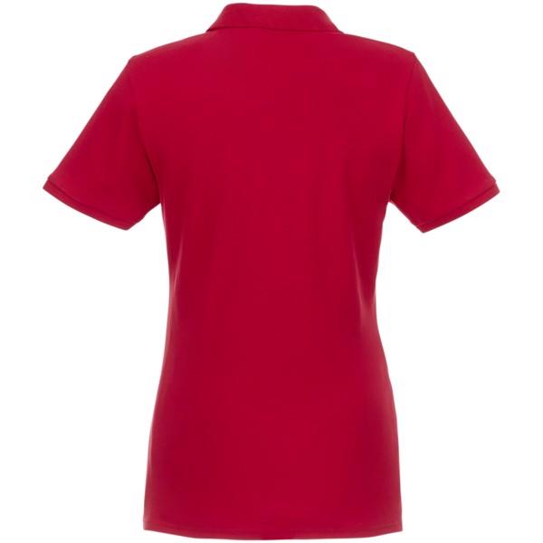 Dámská organická recyklovaná polokošile s krátkým rukávem Beryl - Červená s efektem námrazy / XXL