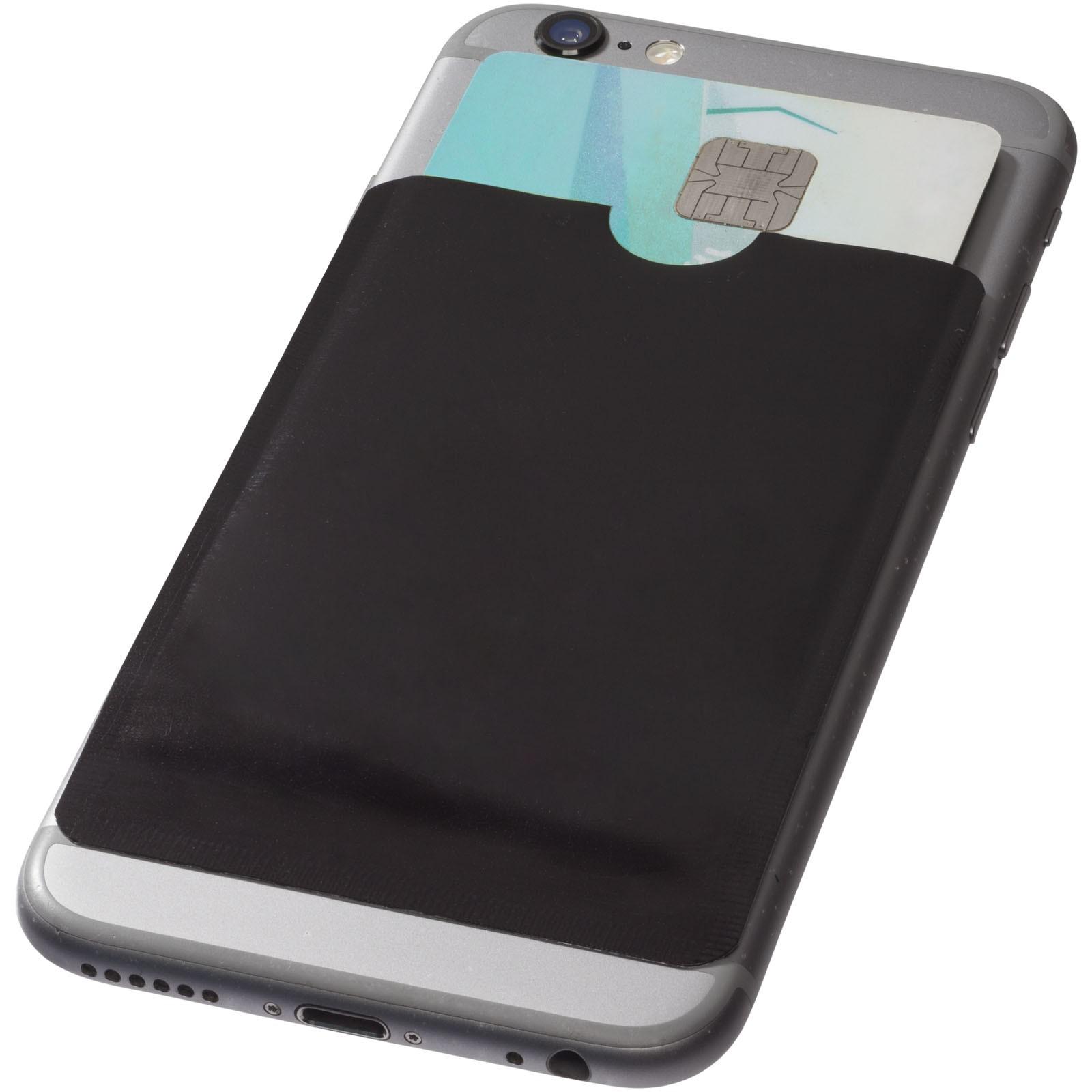 Pouzdro na karty RFID k chytrému telefonu - Černá