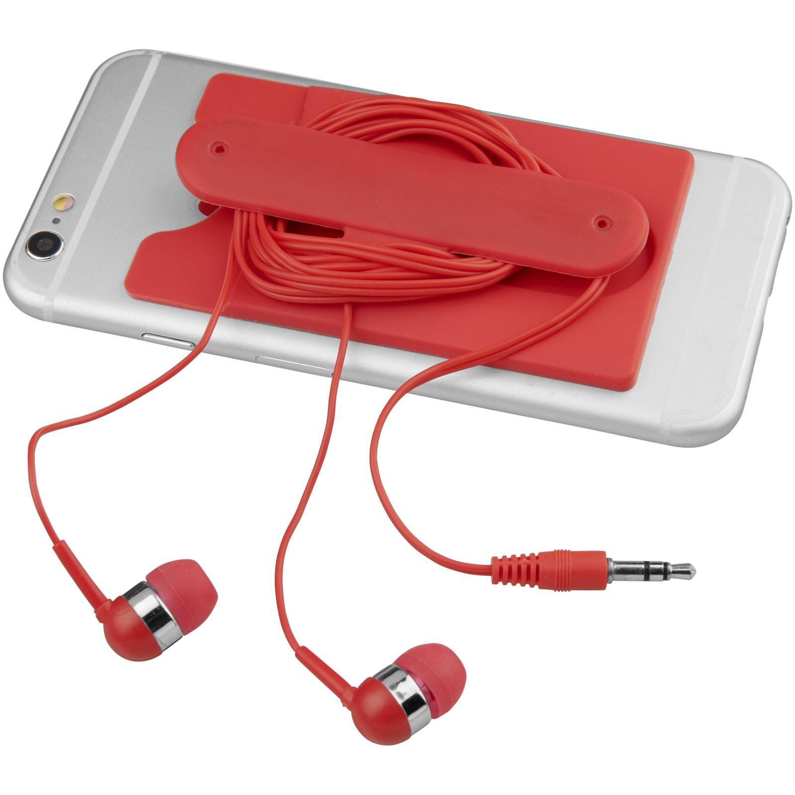 Wired Ohrhörer und Silikon Telefonhülle - Rot