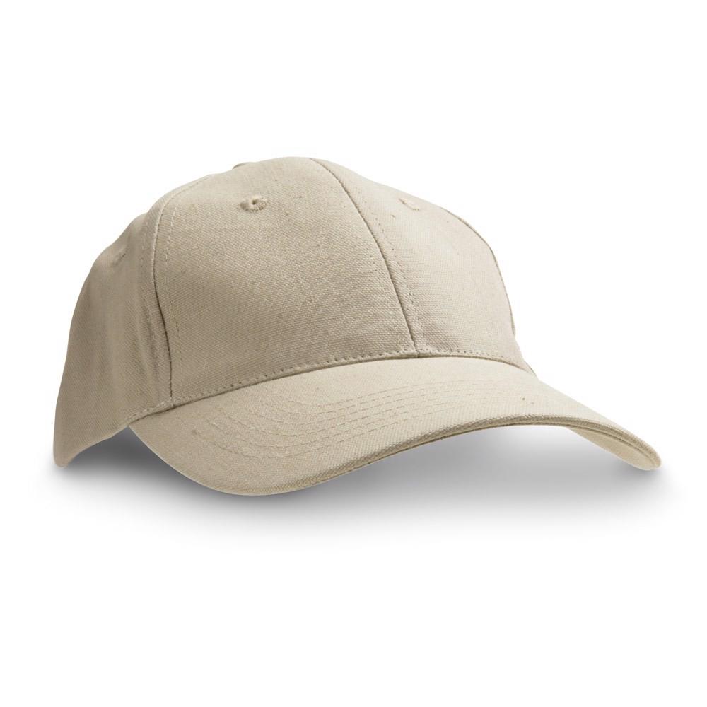 CHRISTIAN. 100% Cotton Canvas Cap - Beige