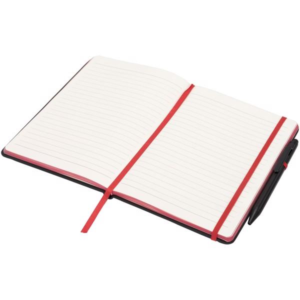 Noir Edge medium notebook - Solid Black / Red