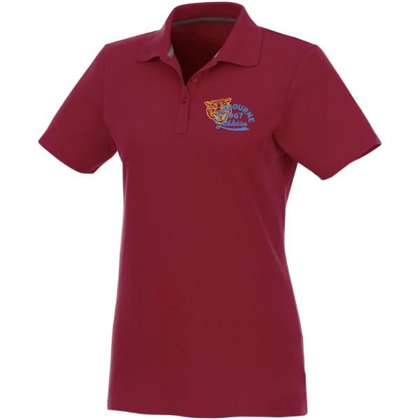 Helios short sleeve women's polo - Burgundy / M