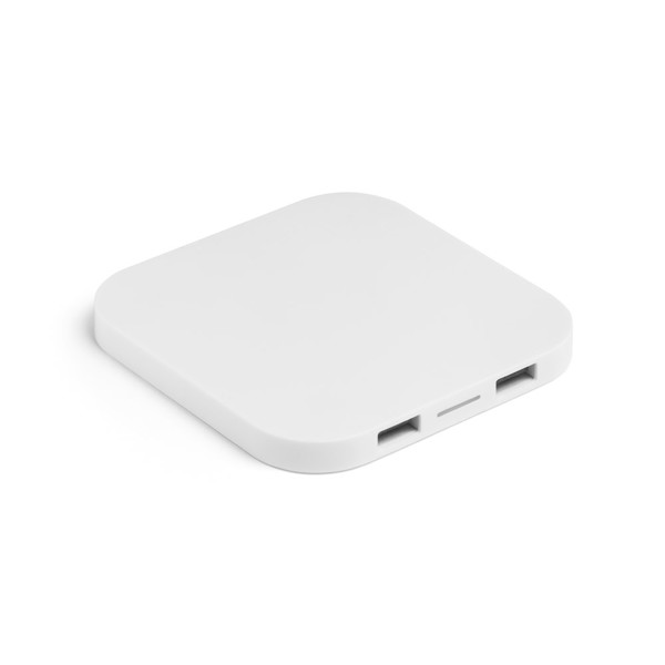 CAROLINE. Wireless charger and 20 USB hub - White