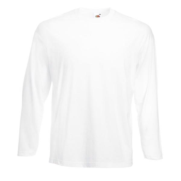 T-shirt 165 g/m² Value Weight Ls 61-038-0 - White / XXL
